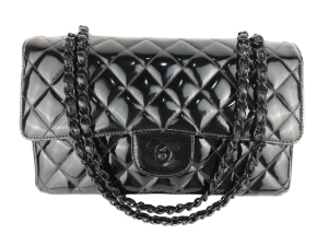 Limited Edition Chanel Pattern Leather Medium Flap with Black Hardware