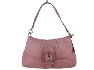 Brand New Coach Soho Leather Pleated Flap Bag Pink