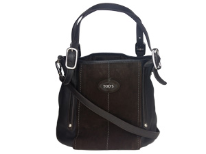 TOD'S Black Leather Sling / Shoulder Bag