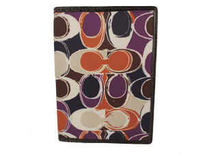 Brand New Coach Ashley Hand Drawn Scarf Print Passport Holder