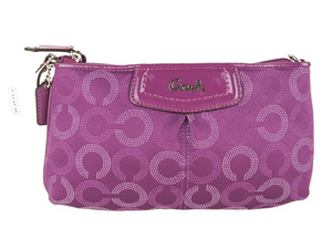 BRAND NEW Coach Ashley Dotted Op Art Large Wristlet