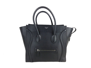 SOLD OUT Celine Black Drummed Leather Mini Luggage 2012