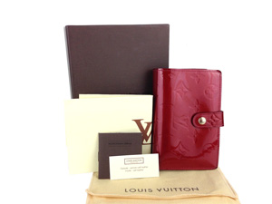Louis Vuitton Red Vernis French Wallet