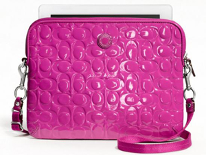 BRAND NEW Coach Embossed Patent Leather Hot Pink Magenta Ipad/Tablet F63808
