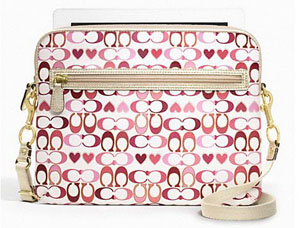 BRAND NEW Coach Peyton Signature Heart Ipad Tablet Case F63678