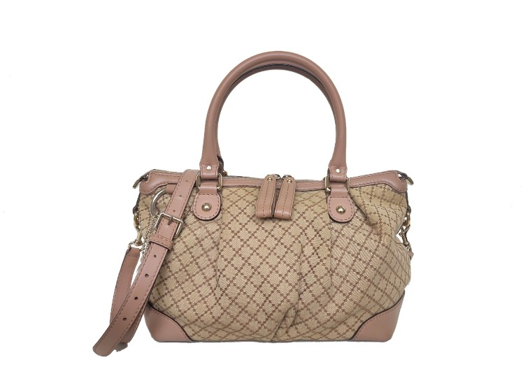 Gucci Sukey GG Canvas Top Handle Bag