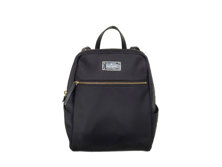 Kate Sapde Black Nylon Backpack