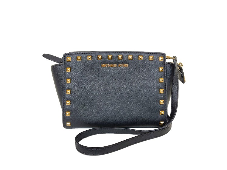 Michael Kors Saffiano Leather Studded Selma Crossbody