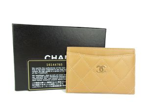 BRAND NEW Chanel Brown Lambskin Card Holder