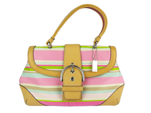 Coach Multicolor Strip Top Handle