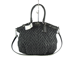 BRAND NEW Coach Madison Quilted Chevron Nylon Lindsey Bag