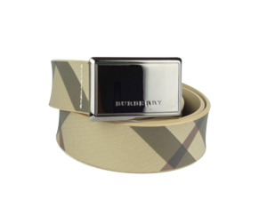 BRAND NEW Burberry Smoked Check Betsy Plaque 32mm Belt