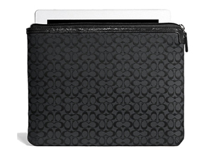 BRAND NEW Coach Black Signature Tablet / Ipad Sleeve F61035