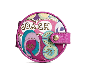 BRAND NEW Coach Multicolor Signature Print Travel Mirror F61861