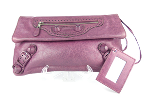 Balenciaga Purple Envolope Clutch