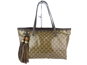 Gucci GG Canvas Shopper Tote With Chain Strap