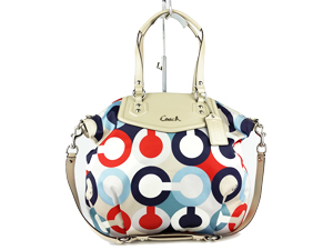 Coach Ashley Op Print North South Satchel Multi Color F25186