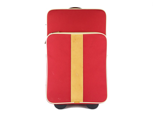 Coach Red Voyager Wheel Luggage
