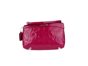 Brand New Coach Embossed Patent Leather Wristlet F47207