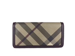 Burberry Smoked Check Continental Wallet