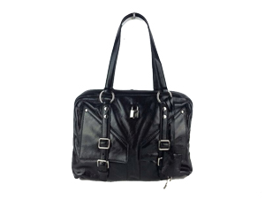 YSL Yves Saint Laurent Black Leather Shoulder Bag