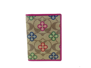 Brand New Coach Peyton Sign Clover Passport Case in Multicolor F62307