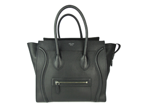 Celine Black Drummed Leather Mini Luggage