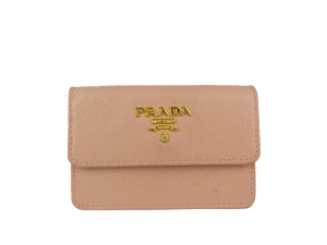 Prada Saffiano Leather Coin Purse - Pink