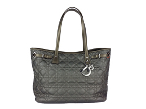 Christian Dior Panarea GM Grey with Silver Hardware