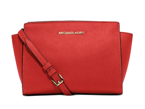 SOLD OUT BRAND NEW Michael Kors Madarin Saffiano Leather Medium Selma Messenger