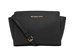 SOLD OUT BRAND NEW Michael Kors Black Saffiano Leather Medium Selma Messenger
