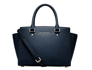 SOLD OUT BRAND NEW Michael Kors Navi Saffiano Leather Selma Satchel