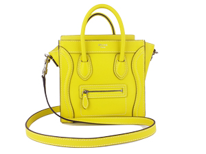 BRAND NEW Celine Nano Yellow Drummed Leather