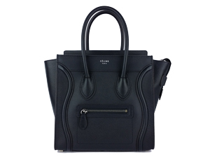 BRAND NEW Celine Micro Black Drummed Leather