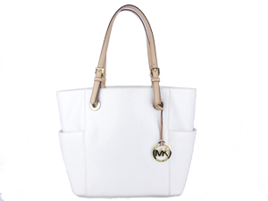 SOLD OUT Michael Kors White Signature Pocket Tote