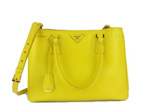 SOLD OUT Prada Yellow Saffiano Lux Tote With Shoulder Strap BN1874