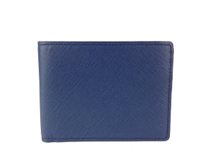 BRAND NEW MCM URBAN STYLER Navy Bifold Mens Wallet Small Size