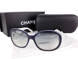 Chanel Black Camellia Sunglasses