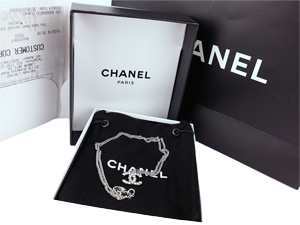 SOLD OUT BRAND NEW Chanel Silver Crystals CC Necklace