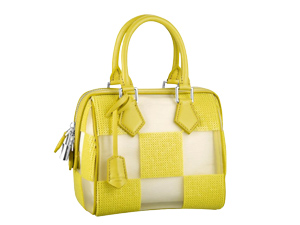 Limited Louis Vuitton Yellow Damier Optic Mesh