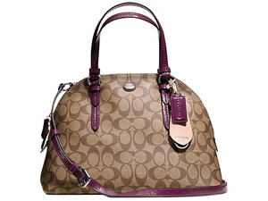 BRAND NEW Coach Peyton Signature Cora Domed Satchel F24606