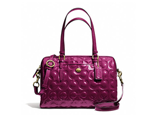 BRAND NEW Coach Peyton OP Art Embossed Patent Satchel F26962