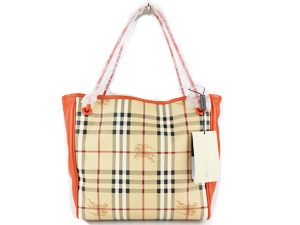 Brand New Burberry Haymarket Knots Small Canterbury Tote