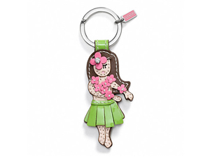 SOLD OUT BRAND NEW Coach Hawaiian Girl Key Ring F93159