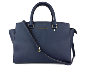 SOLD OUT Michael Kors Navi Saffiano Leather Selma Satchel