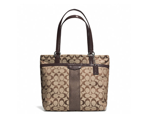 BRAND NEW Coach Signature Stripe Tote F28504