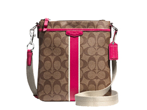 BRAND NEW Coach Signature Stripe Swingpack F51265