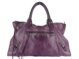 Balenciaga Chevre Work Bag Purple