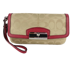 BRAND NEW Coach Kristin Signature Sateen Large Wristlet 47387