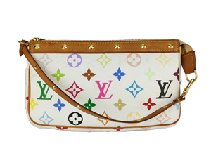 Louis Vuitton Multicolor White Pochette Accessories